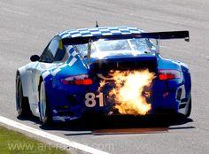 flaming Porsche