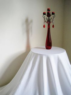 Ultra Tall Dark and Mysterious Scarlet Red Candle Holder by ShabulousChandeliers Design Candle Holders, Unique Candle Holders, Interior Design Candles, Paris In Spring, Diy Ideas, Decor Ideas, Candelabra, Mysterious, Scarlet