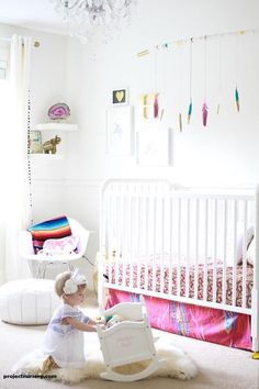 Sencillez y dulzura: blanco con pinceladas de color   Decorar tu casa es facilisimo.com