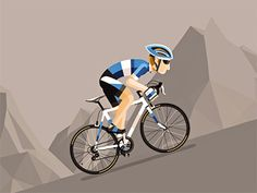 Cyclist designed by Dirk Jan Haarsma. Connect with them on Dribbble; the global community for designers and creative professionals. Cycling Art, Cycling Bikes, Cycling Quotes, Cycling Jerseys, Bicycle Art, Bicycle Design, Velo Biking, Bike Illustration, Road Bike