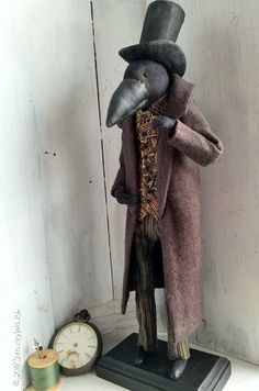 The Goode Wife of Washington County: Impeccable    ©2018 Stacey Walsh  Primitive Folk Art Raven  Art doll