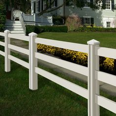 Wam Bam Premium Ranch Rail Vinyl Fence Panels with Posts and Caps - 4 ft.