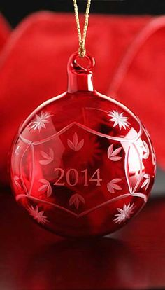 MERRY CHRISTMAS!  Marquis by Waterford 2014 Annual Red Ball Ornament