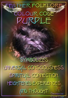 Purple Feather - Symbolizes univeral consciousness, spiritual connection, heightened experiences and thought