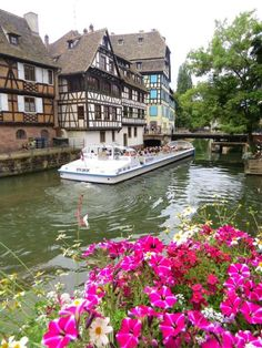 Canal cruises are popular in Strasbourg, France