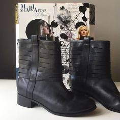 Cole Haan Black booties Cole Haan Maria Sharapova black booties. I love them just a lttl too narrow for me. They are very comfortable. Worn only a few times Cole Haan Shoes Ankle Boots & Booties