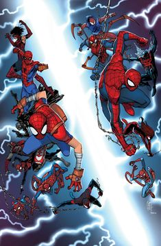 First Look: Count the SPIDER-MEN on Nick Bradshaw's SPIDER-VERSE #1 Cover | Newsarama.com