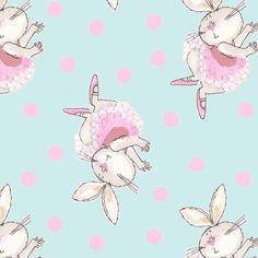 Dusky Mint Boho Bear Deer Owl Floral Pretty Jersey Half Meter Knit