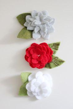 Felt flowers. - Wendy Schultz ~ Handmade Flowers.
