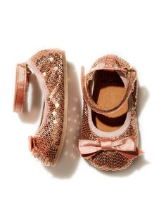 I want these for baby girl! Stuart Weitzman Pali Sequin Baby Shoe