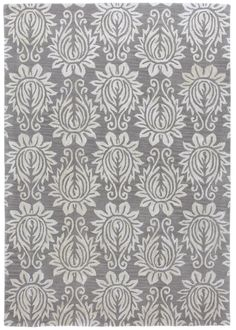 Large-scale Art Nouveau flowers are repeated in an allover damask-like pattern on this rug | http://www.cottageandbungalow.com/cc-chloepew.html