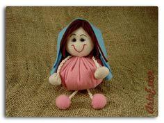 Maria - Personagem do Presépio fuxico.  Confeccionada em feltro. Fibra siliconada. Personalizada. R$ 15,90