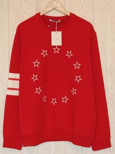 BNWT Givenchy Jumper Sweater Stars and Stripes Red size 2XL Rottweiler Shark #Givenchy #Jumpers