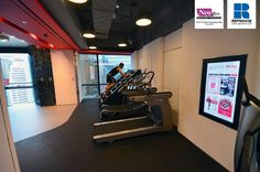 Neoflex Reco Series Rubber Fitness Flooring @ Pure Fitness Causeway Bay, Hong Kong
