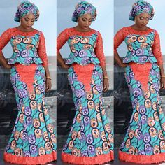 latest ankara skirt and blouse styles Stylish Ankara Skirt and Blouse Design for African Ladies in 2019 Latest African Fashion Dresses, African Men Fashion, African Dresses For Women, African Print Dresses, Africa Fashion, African Attire, African Wear, African Women, African Prints