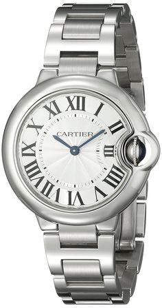 Cartier Women's W6920084 Ballon Bleu Analog Display Quartz Silver-Tone Watch >>> Click on the watch for additional details.