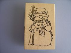 STAMPENDOUS RUBBER STAMPS COUNTRY SNOWMAN STAMP #STAMPENDOUS