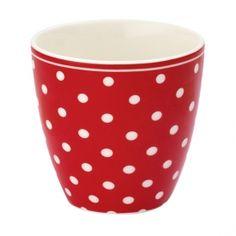 Idéal pour le thé, le café et pourquoi pas également la détourner en petit vase ou encore en pot à crayons. Mini tasse à lait rouge à pois GREENGATE chez La Petite Marchande