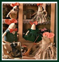 Free Mouse - Rat Pattern With Clothes Pattern