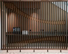 Could be interesting with internal lighting. Partition Design, Facade Design, Wall Design, Decorative Metal Screen, Decorative Panels, Lobby Interior, Interior Walls, Door Dividers, Divider Screen