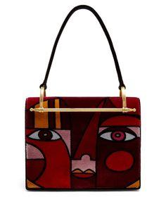 prada  bags  shoulder bags  hand bags  velvet  suede 0b05af6cf6251