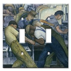 Switch Plate Double Diego Rivera North Wall Detroit Industry Murals - Detroit…