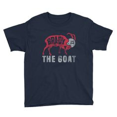 Tom Brady - New England Patriots Inspired - The GOAT (Greatest of All Time)  Youth T-Shirt 368d2ef9d