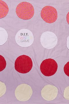 DIY Twister Game | A Subtle Revelry
