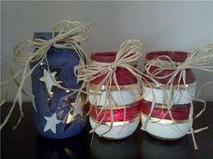 Stars & Stripes Tea Lights and Mason Jars