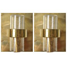 Pair of Nautical Stateroom Brass Sconces with Glass Shade, Mid-Century | From a unique collection of antique and modern nautical objects at https://www.1stdibs.com/furniture/more-furniture-collectibles/nautical-objects/