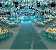 tiffany blue wedding reception..