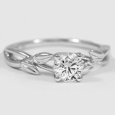 A cheaper alternative of my fav ring. But I want yellow gold White Gold Budding Willow Ring // Set with a Carat, Round, Ideal Cut, I Color, Clarity Diamond Gold Wedding Rings, Bridal Rings, Just In Case, Just For You, Diamond Solitaire Necklace, Solitaire Rings, Ring Verlobung, Engagement Ring Settings, Platinum Engagement Rings
