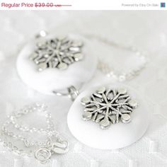 Gifts for Her - White and Silver by Samantha Bohlen on Etsy