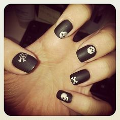 Pirate nails. For my baby's birthday party