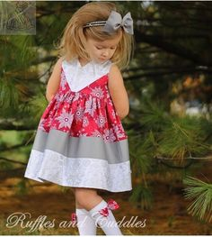 Create Kids Couture - Maggie's Perfect Color Block Dress and Tunic PDF Pattern. A fast and easy sew that gives great results every time!