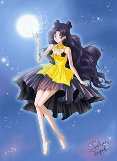 Luna, Princess Kaguya Crystal style by Taulan-art.deviantart.com on @DeviantArt