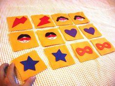 Jogo da memória com 12 peças - em feltro