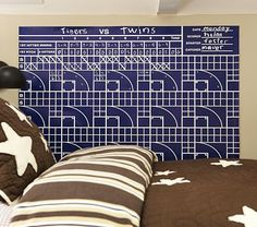 I love this for Jack's room!!  The Sports Chalkboard Decal on potterybarnkids.com