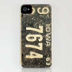 Vintage License IPhone 4/4S Iphone 5/5s/5c Samsung 4s