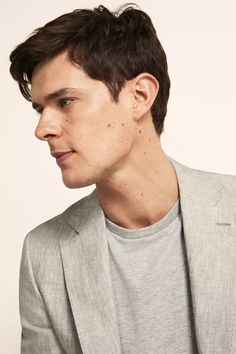 Tailored Fit Green Linen Suit Linen Suits For Men, Mens Suits, Green Jacket, Suit Jacket, Moss Bros, Oxford White, Linen Jackets, Fitted Suit, Jacket Buttons