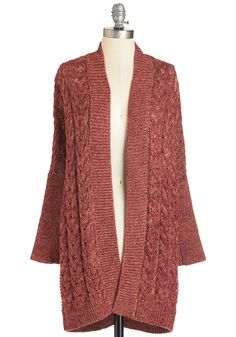 You Know Cozy Cardigan. You have an eye for cuddly styles, so wrapping up in this long cardigan just makes good fashion sense! #red #modcloth