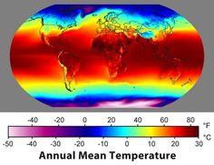 Global Annual Mean Temperature  Godsend Gulf Stream!