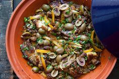 Moroccan Chicken with Lemon and Olives on Simply Recipes