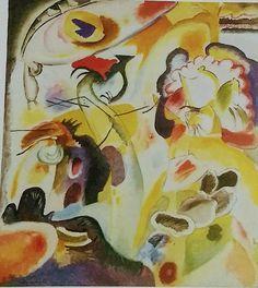 Expressionismo: Vassíli Kandinski N° 29 - The Swan; Ano: 1912. Antes da Primeira Guerra Mundial na Alemanha o movimento emergiu ao não retratamento a realidade objetiva é sim as emoções subjetivas e as reações pessoais a objetos e acontecimentos. Cor, desenho, proporção eram frequentemente exagerados ou distorcidos, é o conteúdo simbólico tinha como sua principal prioridade e de maior importância. A imagem retrata bem isso ao Kandinski definir a improvisação como uma expressão espontânea.