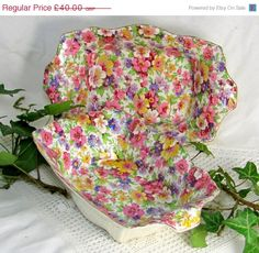 GOLDEN OLDIES SALE Chintz Serving Dishes Art Deco by keepsies, £34.00