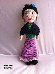 Frida Kahlo - Manualicraft - Amigurumi, scrap y costura creativa