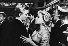 Oskar Werner & Simone Signoret Veuve, Good Old Times, French Actress, Hot Guys, Cinema, In This Moment, Actresses, Dance, Actors
