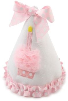 Mud Pie Baby-girls Newborn Cupcake Birthday Hat