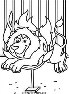 Les Coloriages du cirque à imprimer sur Coloriages-enfants.com