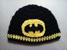 Batman Super Hero Crochet Baby Hat